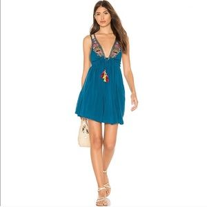 HP- Free People Lovers Cove Embroidered Mini Dress